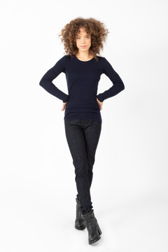 Prairie Underground - Long Crewneck in Midnight $84 - Show Pony Boutique