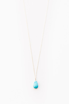 Veronica & Harold - Hilary Faceted Teardrop Stone on Sterling Silver Chain - Show Pony Boutique