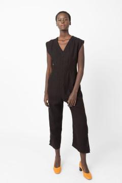 Prairie Underground - Linen Tie Jumpsuit in Black $209 - Show Pony Boutique