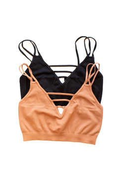 Ladder Strappy Bralette in Multiple Colors - Show Pony Boutique - $26