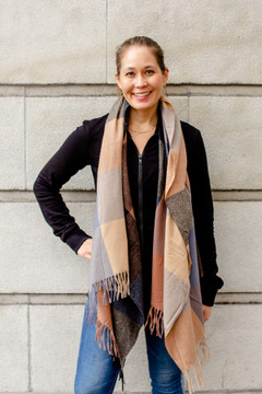 Show Pony - Cashmere Scarf in Plaid $48 - Show Pony Boutique