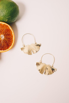 Show Pony - Ginkgo Hoop Earrings $40 - Show Pony Boutique