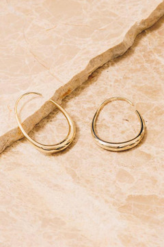 Show Pony - Frances Threader Hoop Earrings $44 - Show Pony Boutique