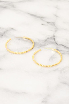Show Pony - Mesha Gold Hoop Earrings $52 - Show Pony Boutique
