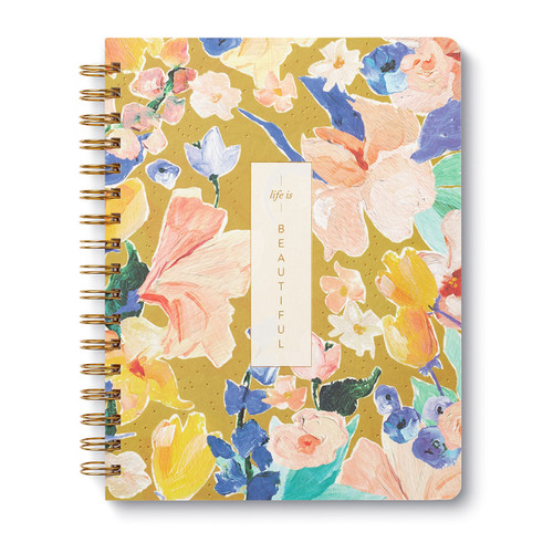 Compendium - Wire-O Notebook - Life is Beautiful $13.95 - Show Pony Boutique
