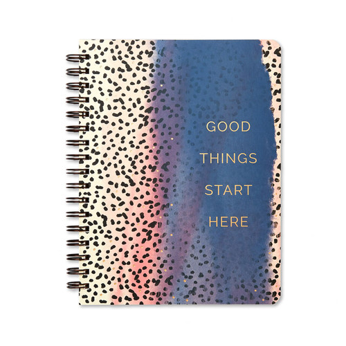 Compendium - Wire-O Notebook - Good Things Start Here $13.95 - Show Pony Boutique
