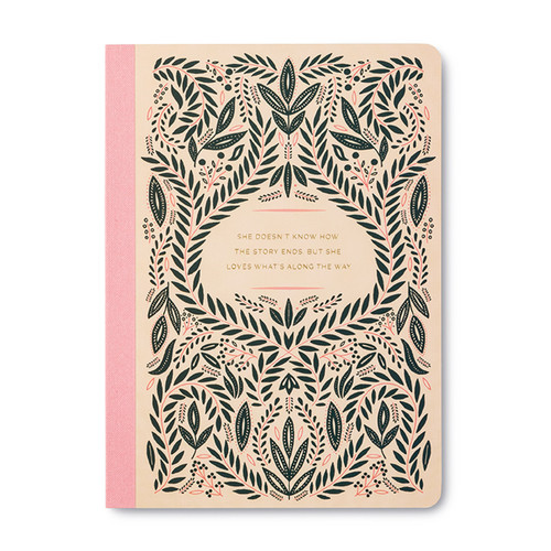 """Compendium - Composition Notebook """"She Doesn't Know How The Story Ends""""  $7.95 - Show Pony Boutique"""