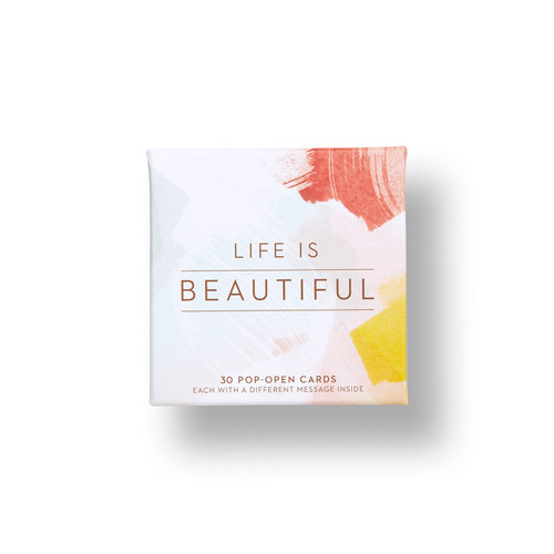 "Compendium - Thoughtfulls Pop Open Cards ""Life is Beautiful"" $7.95 - Show Pony Boutique"