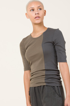 Prairie Underground - RECON 1/4 Sleeve Crew in Graphite/Oliver $84 - Show Pony Boutique
