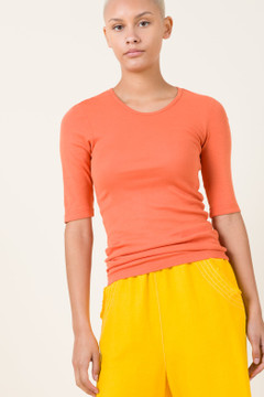 Prairie Underground - 1/4 Sleeve Crew in Papaya $66 - Show Pony Boutique