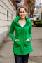 Mid Victorian Hoodie in Kelly Green $248 - Show Pony Boutique