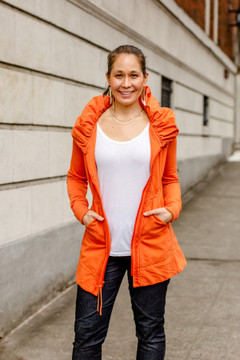 Mid Victorian Hoodie in Papaya $249 - Show Pony Boutique