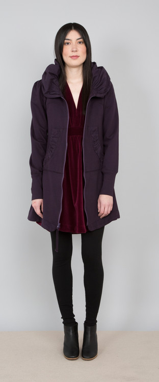 Prairie Underground - Long Cloak Hoodie in Inkpot $264 - www.showponyboutique.com