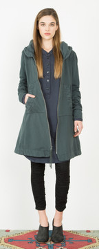 Prairie Underground - Long Cloak Hoodie in Drab $264- show pony boutique
