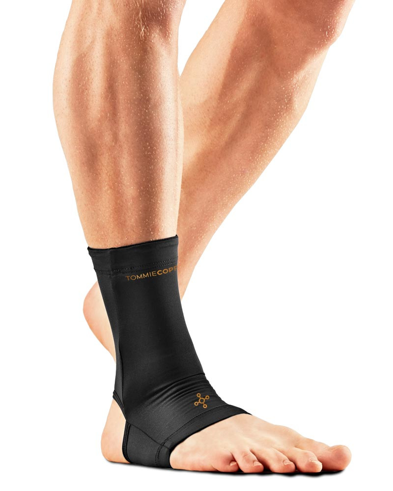 1a7fce32fe Tommie Copper Men's Recovery Compression Ankle Sleeve (0103UR) Black