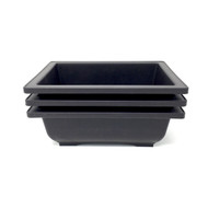 "6"" Bonsai Pots with Trays - 3 pack"
