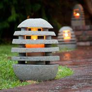 Stone Shade Garden Lantern