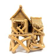 Chinese Figurine - Large Grass Hut Glazed (F-013)