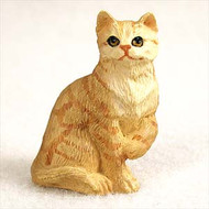 Red Shorthaired Tabby Cat Figurine