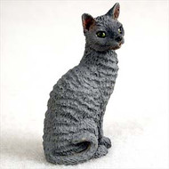 Blue Cornish Rex Figurine