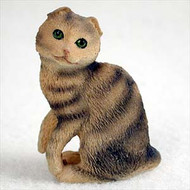 Brown Tabby Scottish Fold Figurine