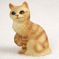 Red Tabby Manx Cat Figurine