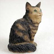 Brown Tabby Maine Coon Cat Tiny One Figurine (CTN17)