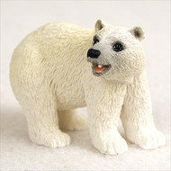 Bear Polar Bonsai Tree Figurine