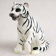 Tiger White Bonsai Tree Figurine