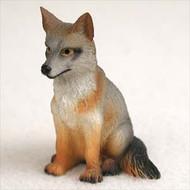 Fox Gray Bonsai Tree Figurine