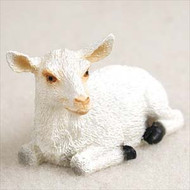 Goat White Bonsai Tree Figurine