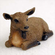 Goat Brown Bonsai Tree Figurine
