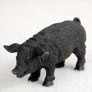 Pig Black Bonsai Tree Figurine