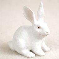 Rabbit White Bonsai Tree Figurine