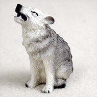 Wolf Gray Bonsai Tree Figurine