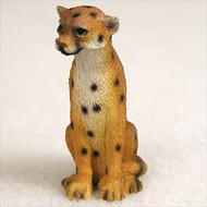 Cheetah Bonsai Tree Figurine
