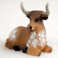 Long Horn Steer Bonsai Tree Figurine