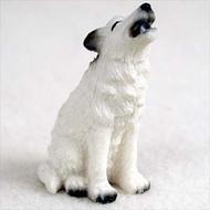 Wolf White Bonsai Tree Figurine