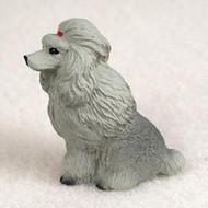Poodle Gray Bonsai Tree Figurine