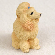 Poodle Apricot Bonsai Tree Figurine