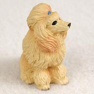 Poodle Apricot Bonsai Tree Figurine