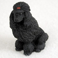 Poodle Black Bonsai Tree Figurine