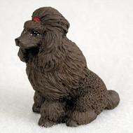 Poodle Chocolate Bonsai Tree Figurine