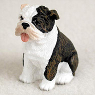Bulldog Brindle Bonsai Tree Figurine