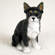 Chihuahua Black & White Bonsai Tree Figurine
