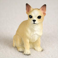 Chihuahua Tan & White Bonsai Tree Figurine