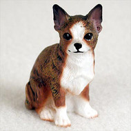 Chihuahua Brindle & White Bonsai Tree Figurine
