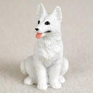 German Shepherd White Bonsai Tree Figurine