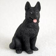 German Shepherd Black Bonsai Tree Figurine