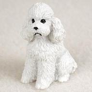 Poodle White w/Sport Cut Bonsai Tree Figurine
